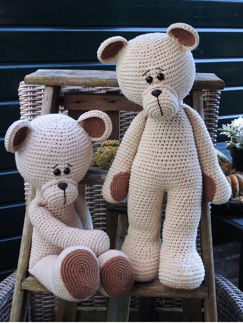 XXL Funny Bear Basic linnen (staand of zittend)