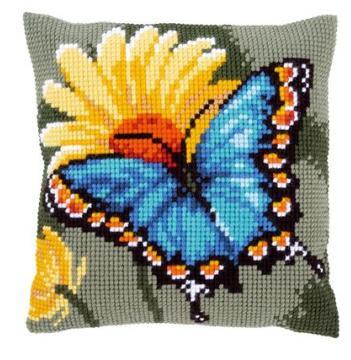 Vlinder met gele bloem