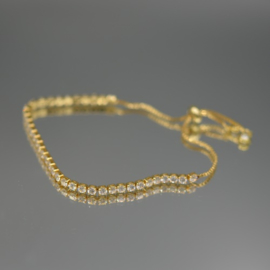 Gold plated armband crystals
