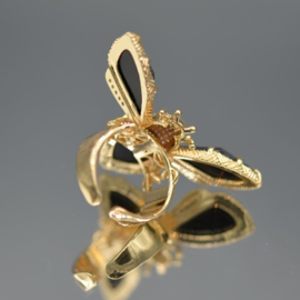 Ring zwarte cateye
