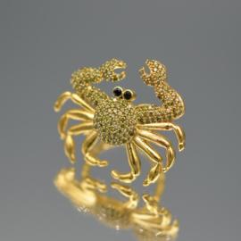 Ring crab green zircons