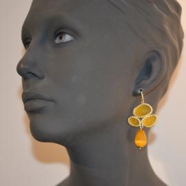Jade en cateye geel