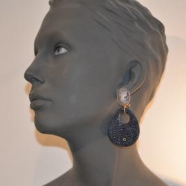 Roggenleer donkerblauw