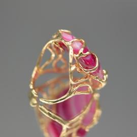Ring fuchsia agaat
