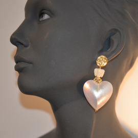 XL mother of pearl hearts