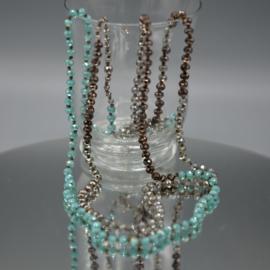 Lange ketting crystals