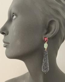 Multi oorbellen glassberry