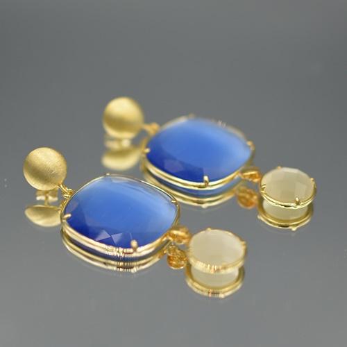 Cateye blauw wit