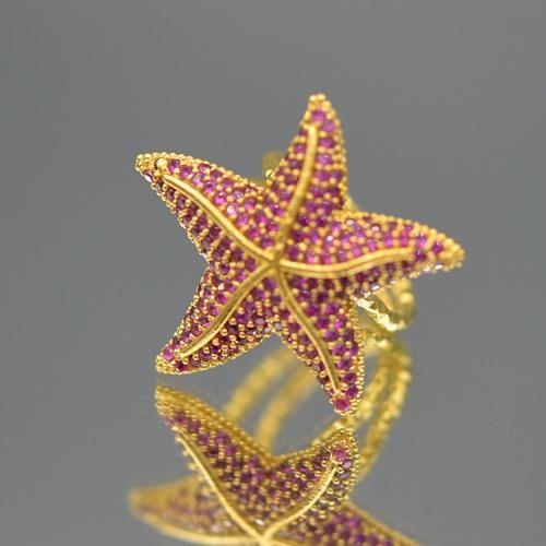 Ring zeester fuchsia