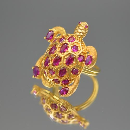Ring turtle fuchsia