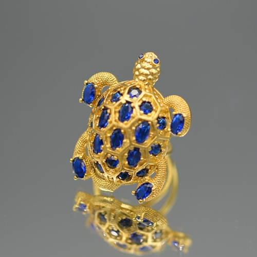 Ring turtle blue