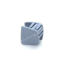 klemmetje vierkant mat licht grijs/blauw