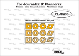 Crealies For Journalzz & Plannerzz Stansen Binder Reinforcement Shapes