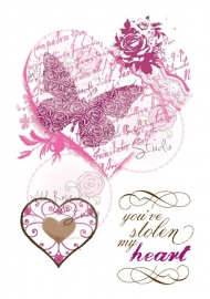 Clear Stamp Set Vintage Heart