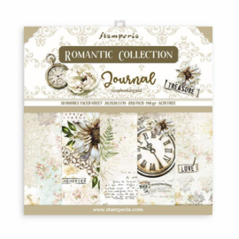 Stamperia Romantic Journal 8x8 Inch Paper Pack
