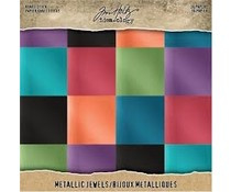 Tim Holtz Idea-ology Kraft Stock 8x8 Inch Metallic Jewels