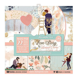 Stamperia Love Story 12x12 Inch Paper Pack