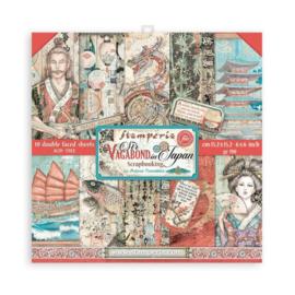 Stamperia Sir Vagabond in Japan 6x6 Inch Paper Pack
