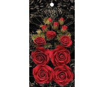 Graphic 45 Rose Bouquet Collection Triumphant Red