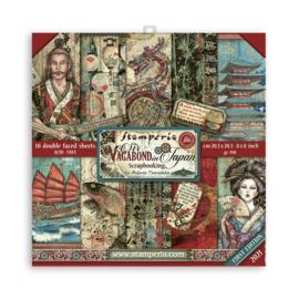 Stamperia Sir Vagabond in Japan 8x8 Inch Paper Pack