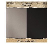 Tim Holtz Idea-ology Kraft Stock 8x8 Inch Metallic 3