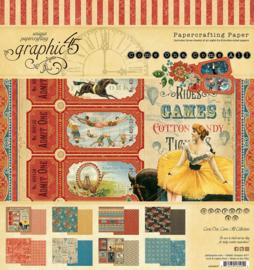Pre-order Graphic 45 Come One, Come All! 8x8 Paper Pad