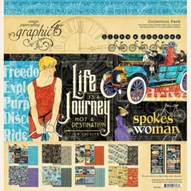 Graphic 45 Life's a Journey 12x12 Collection Pack