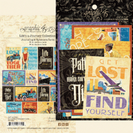 Graphic 45 Life's a Journey Ephemera & Journaling Cards