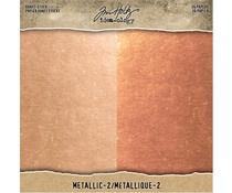 Tim Holtz Idea-ology Kraft Stock 8x8 Inch Metallic 2 Rose