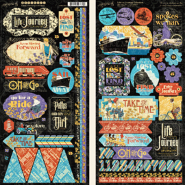 Graphic 45 Life's a Journey Stickers