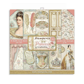 Stamperia Princess 8x8 Inch Paper Pack
