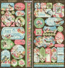 Pre-order Graphic 45 Bird Watcher Stickers