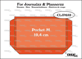 Crealies For Journalzz & Plannerzz Stansen  Pocket Medium (10,4 cm)
