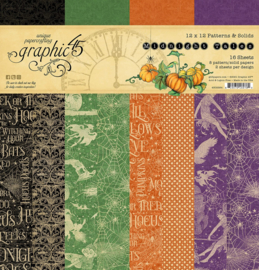 Graphic 45 Midnight Tales 12x12 Paper Pad  Patterns & Sollids
