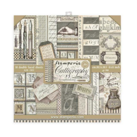 Stamperia Calligraphy 8x8 Inch Paper Pack