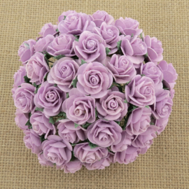 Lilac Open Roses - 10 mm