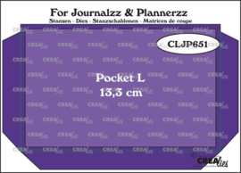 Crealies For Journalzz & Plannerzz Stansen  Pocket Large (13,3 cm)