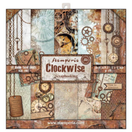 Stamperia Clockwise 12x12 Inch Paper Pack