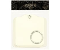 Graphic 45 Square Tags Ivory