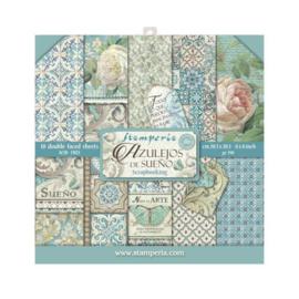 Stamperia Azulejos 8x8 Inch Paper Pack