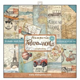 Stamperia Around the World 12x12 Inch Paper Pack