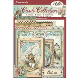 Stamperia Alice in Wonderland Cards Collection