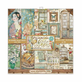 Stamperia Atelier des Arts 8x8 Inch Paper Pack