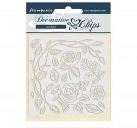 Stamperia Decorative Chips 14x14 cm - Passion Roses