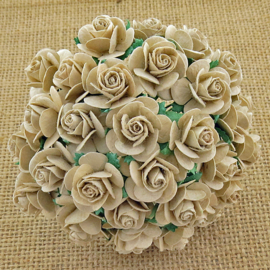 Dove Grey Open Roses - 10 mm