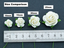 Parma Grey Open Roses - 10 mm