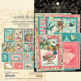 Graphic 45 Ephemera Queen Ephemera & Journaling Cards
