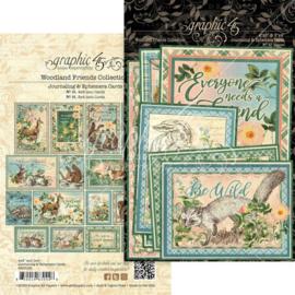 Pre-order Graphic 45 Woodland Friends Ephemera & Journaling Cards