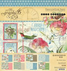 Graphic 45 Bird Watcher 8x8 Paper Pad