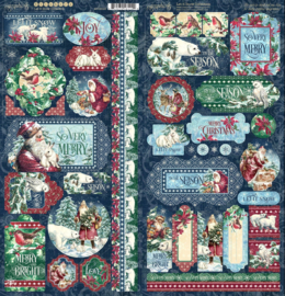 Pre-order Graphic 45 Let it Snow Stickers